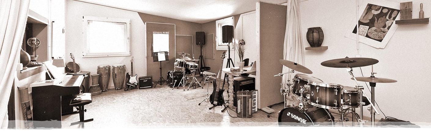 Proberaum Schlagzeug